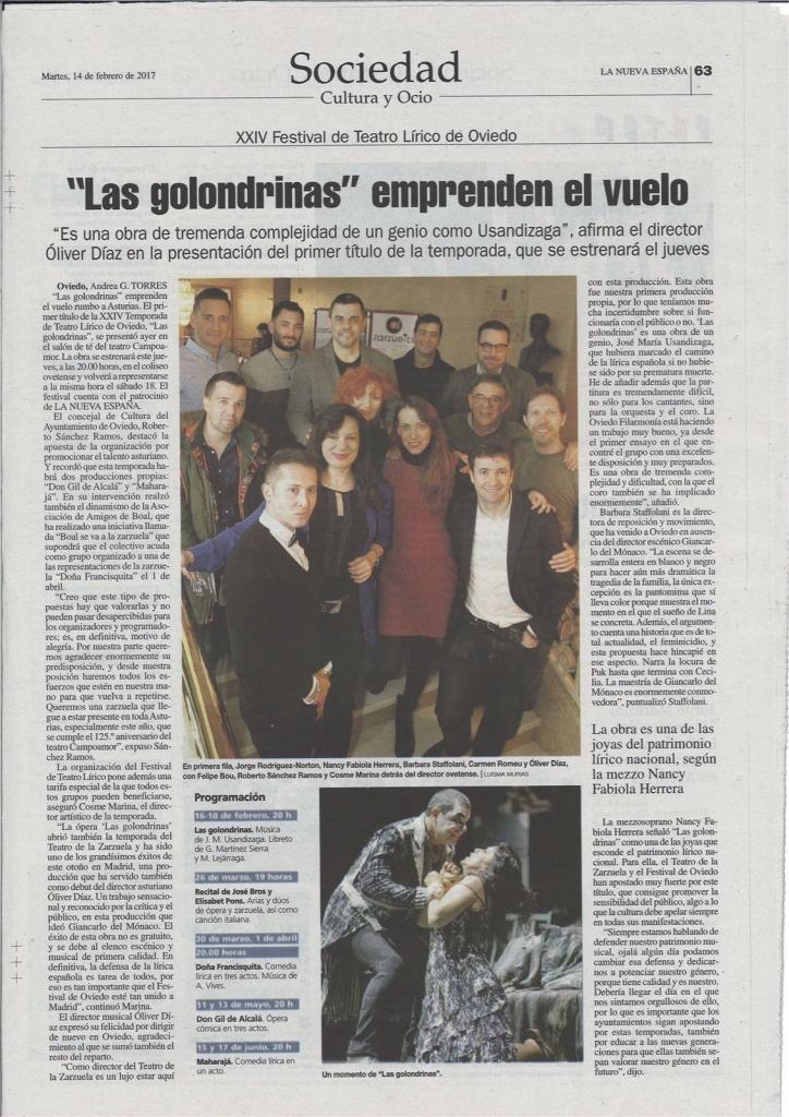 Las Golondrinas a Oviedo_stampa