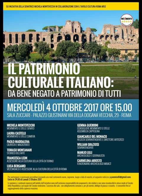 Roma 4 ottobre 2017 Patrimonio Culturale Italiano